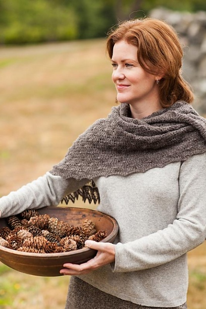 Fir Cone Lace Shawl
