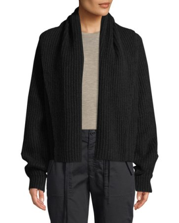 Vince's Roomy Ribbed Cardigan