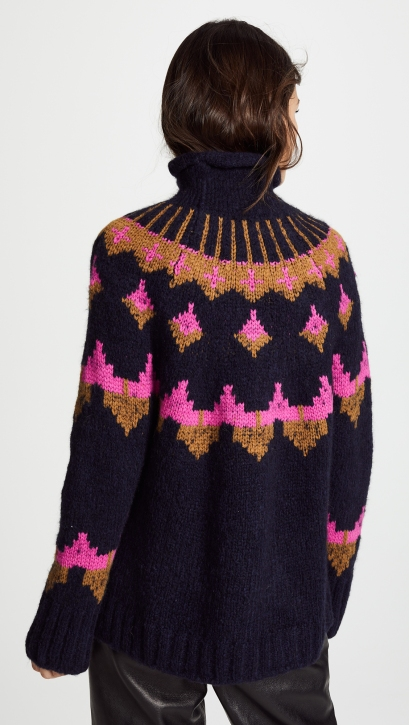 ALC's color work sweater is #395