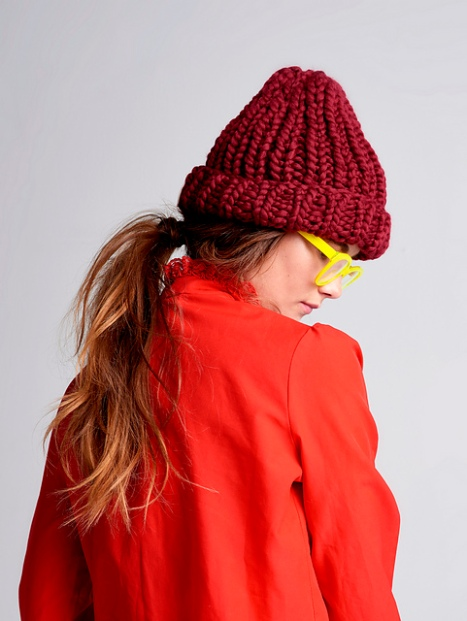 Warm to wear and fast to knit, Her Beanie