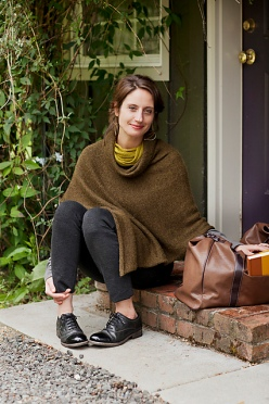 Easy Folded Poncho by Churchmouse Yarns & Tea