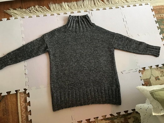 Two versions of the Better Than Basic Pullover from Churchmouse Yarns and Tea