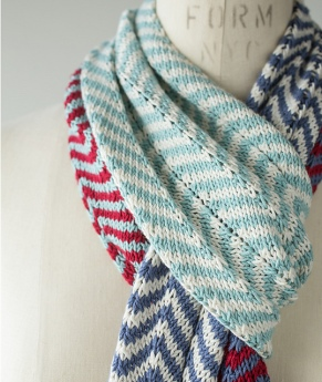 Striped Chevron Scarf