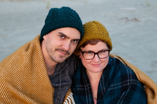 the Antler Hat and Mitts from tincanknits