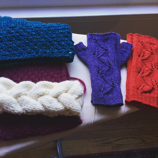 pile of knitted gifts