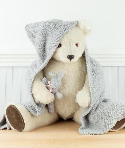 Baby Blanket with Hood & Buny
