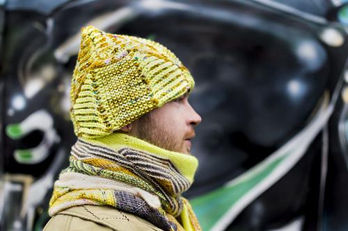 Brio Garter Hat by Stephen West